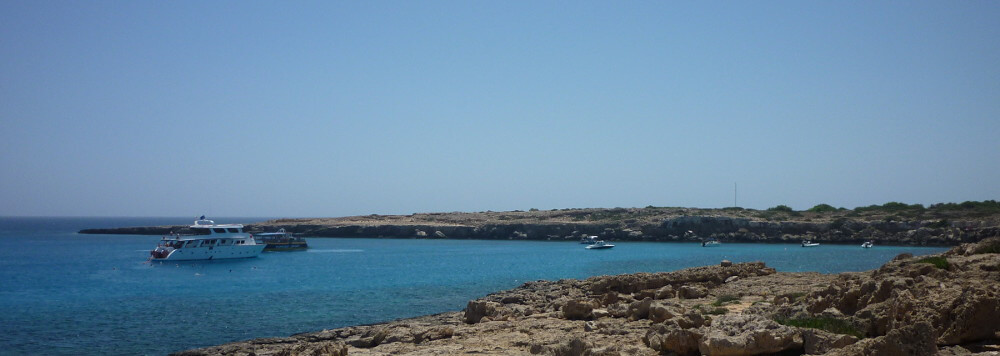Blue lagoon cove near Ayia Napa