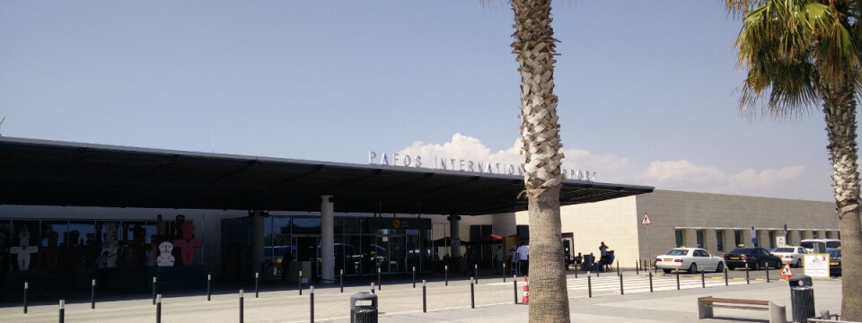 Outside Paphos International Airport, Cyprus