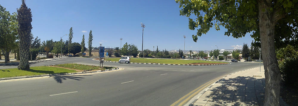Roundabout in Cyprus
